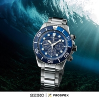 Picture of SEIKO SOLAR Save The Ocean  SSC675P สีฟ้าน้ำทะเล