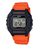 Picture of CASIO W-218H-4B2 สีส้ม