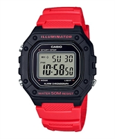 Picture of CASIO W-218H-4B สีแดง