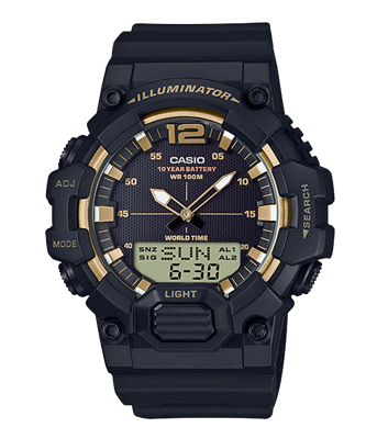Picture of CASIO  HDC-700-9AV สีดำทองด้าน